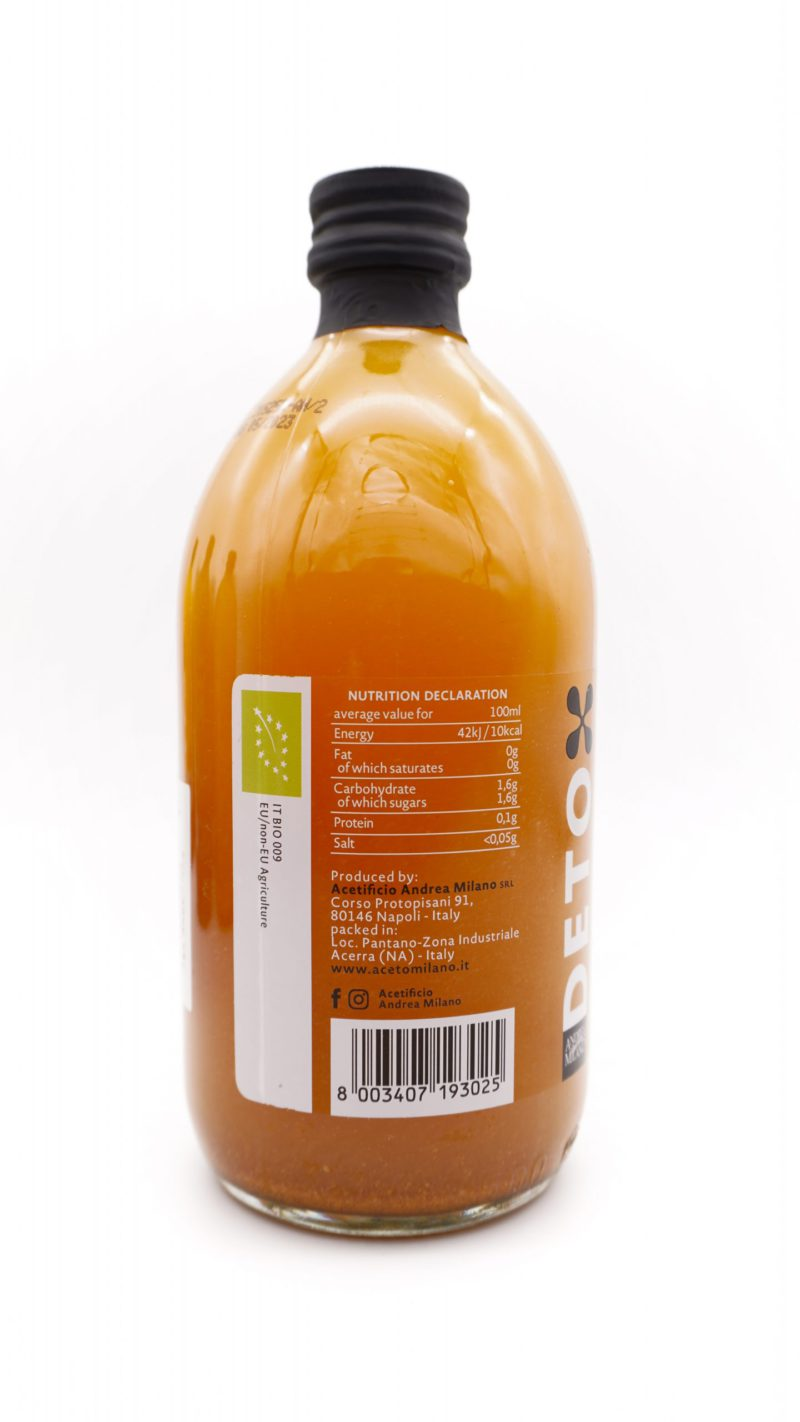 ANDERA MILANO DETOX Organic Apple Cider Vinegar With 'Mother' Infusion with Cinnamon and Turmeric