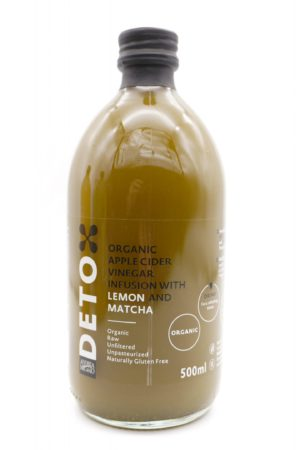 DETOX Organic Apple Cider Vinegar With The Mother Infusion with Lemon and Matcha
