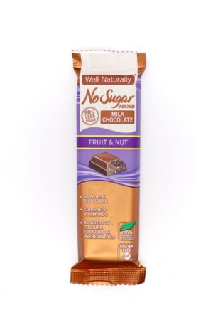 Well Naturally no sugar added fruit and nut milk chocolate 45g