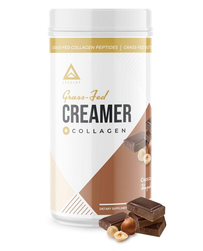 LevelUp® Grass-Fed Keto Coffee Creamer Chocolate Hazelnut 198g