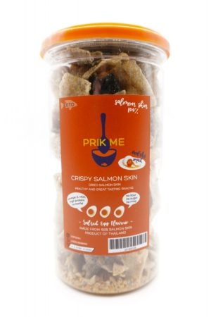 PRIK ME Thailand Keto Crispy Salmon Skin Salted Egg 95g