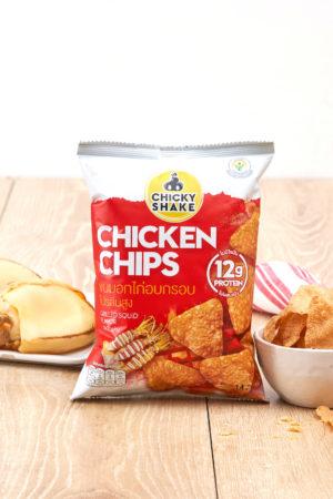 Chicky Shake 雞胸肉脆片 魷魚味 14g
