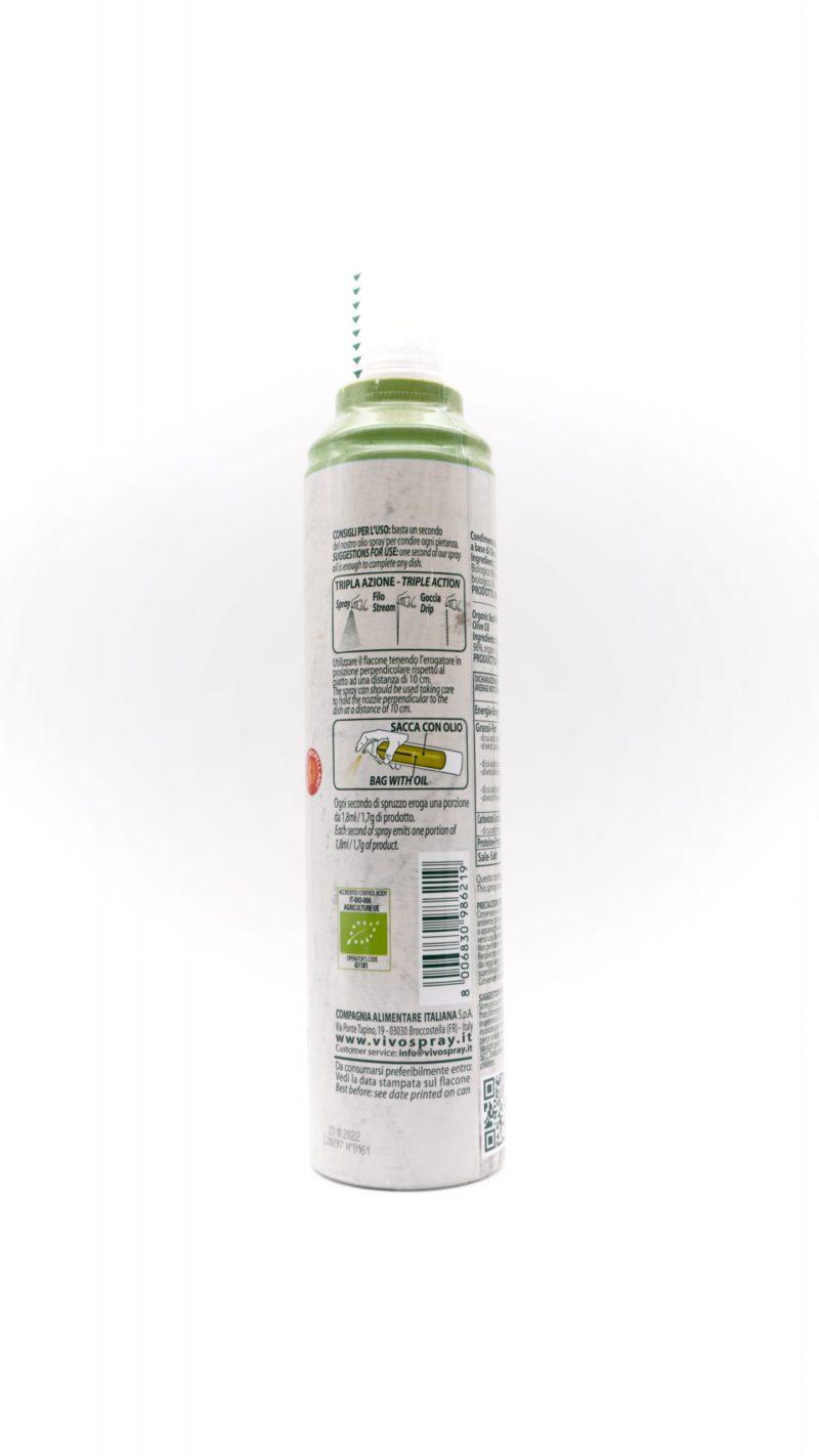 Vivo Spray 100% 有機初榨冷壓橄欖油噴霧 200ml 羅勒味