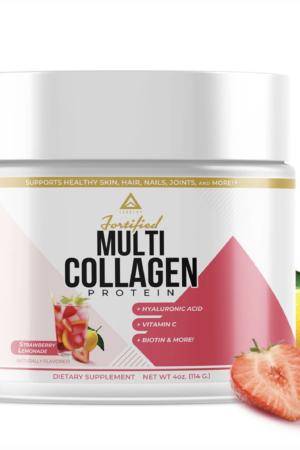 LevelUp® 強化複合膠原蛋白 士多啤梨檸檬味 114g